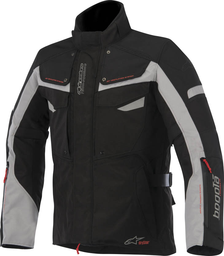 Alpinestars Bogota Drystar jacket Black Grey