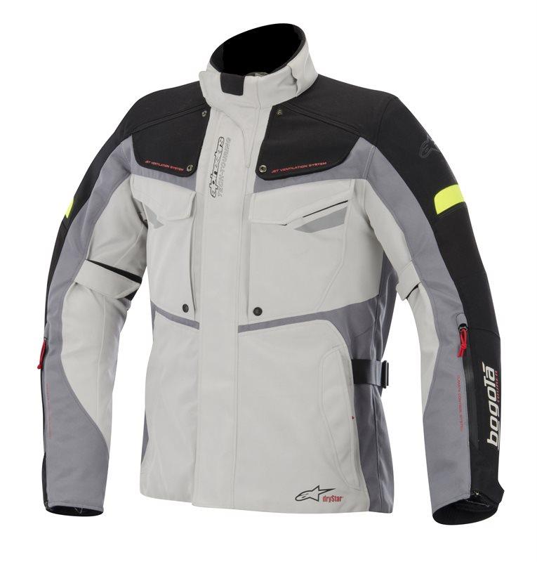 Giacca moto Alpinestars Bogota Drystar Grigio Nero Giallo