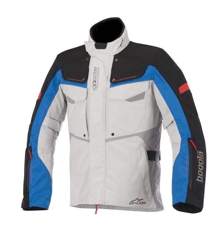 Giacca moto Alpinestars Bogota Drystar Grigio Nero Blu Rosso