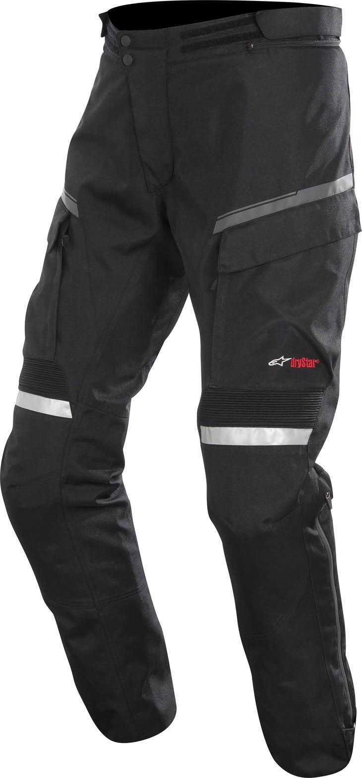 Pantaloni moto Alpinestars Valparaiso Drystar accorciato Nero