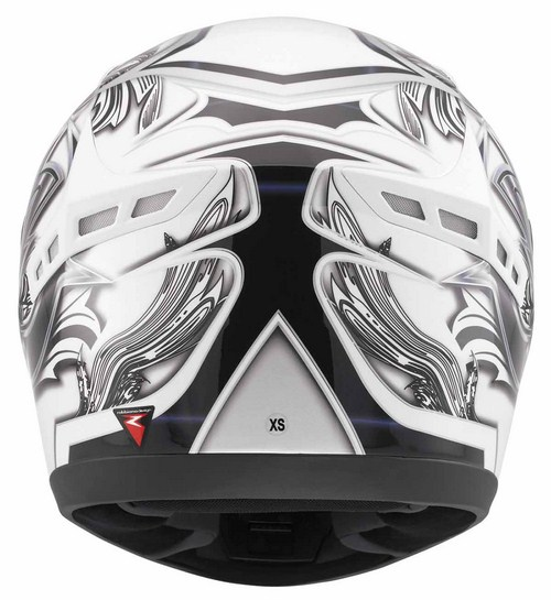 Casco moto Mds by Agv M13 Multi Brush bianco nero