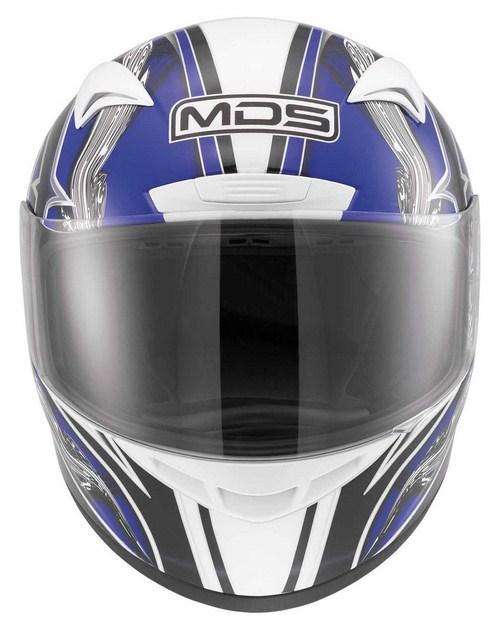 Mds by Agv M13 mULTI bRUSH  fullface helmet white blue