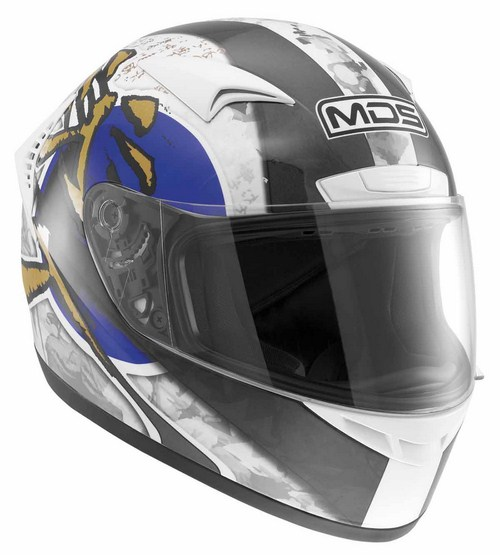 Casco moto MDS by Agv M13 Multi Ronin bianco blu