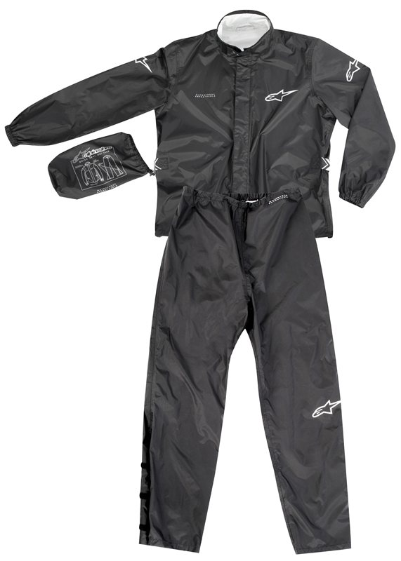 Tuta antipioggia divisibile Alpinestars Quick Seal Out nera