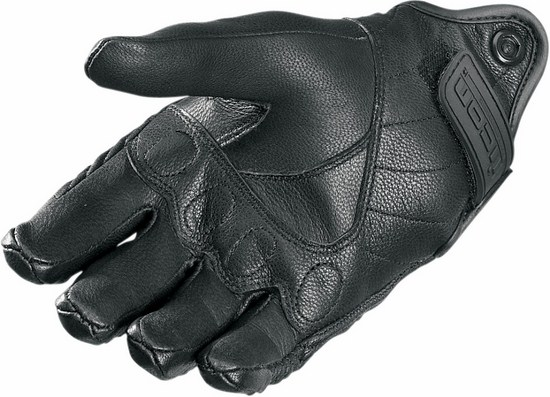 Summer Motorcycle Gloves Icon Pursuit Perforated leather Blue