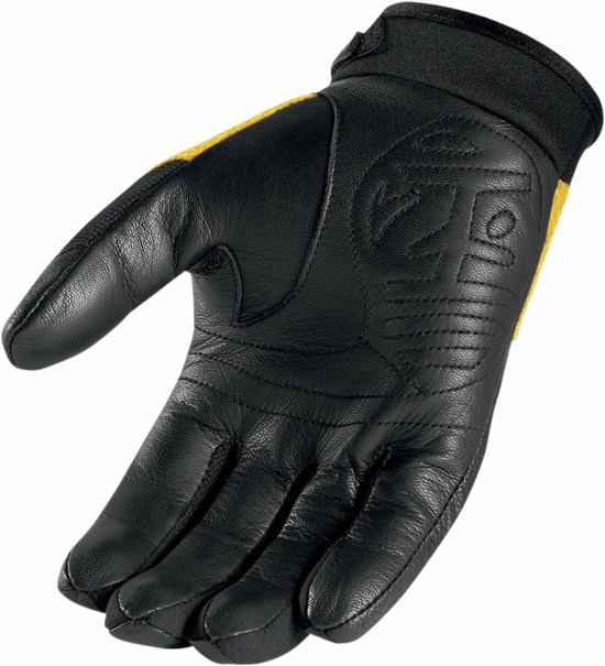 Summer Motorcycle Gloves Icon Twenty-Niner Yellow