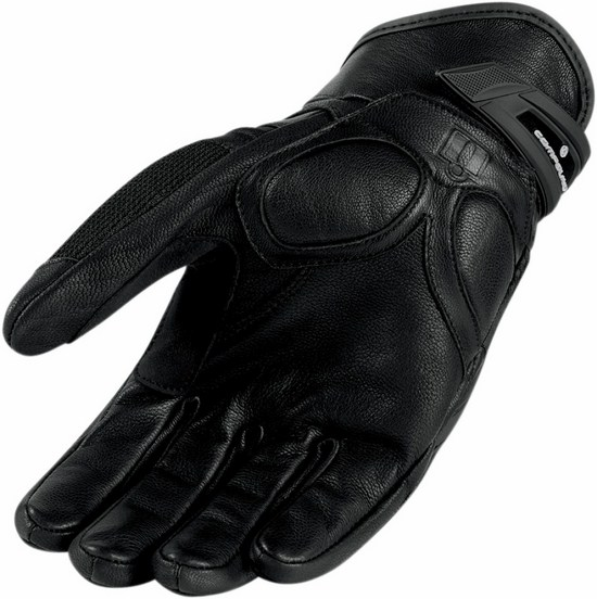Guanti moto estivi Icon Compound Nero