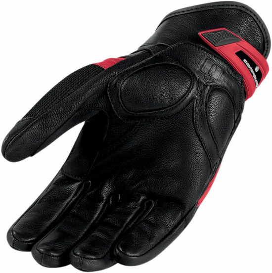Summer Motorcycle Gloves Icon Compound Red