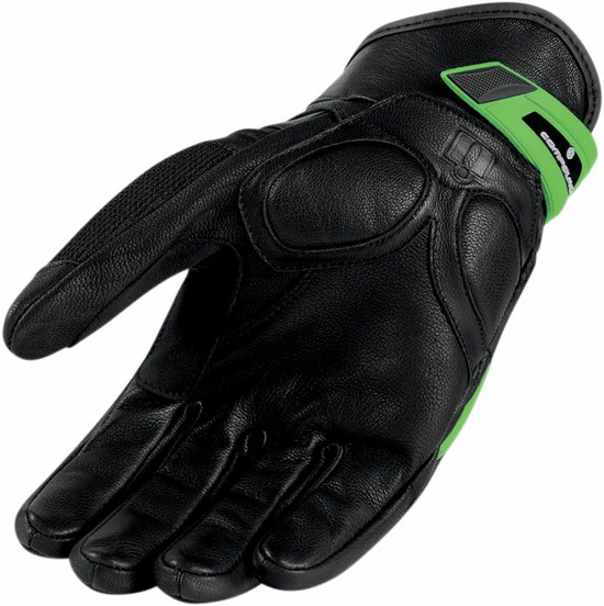 Summer Motorcycle Gloves Icon Green Compound