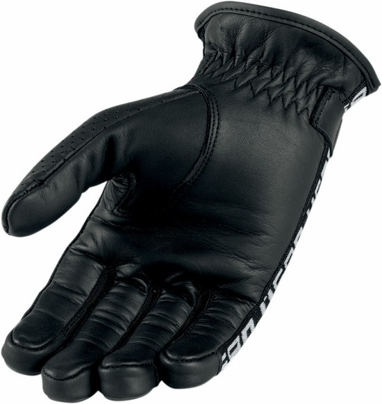 Icon leather motorcycle gloves summer 1000 Turnbuckle Skelly