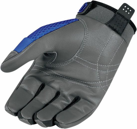 Summer Motorcycle Gloves Icon Anthem Blue