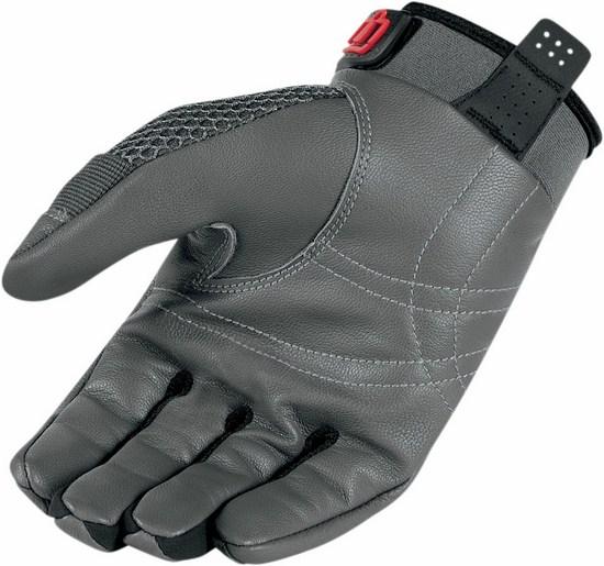 Summer Motorcycle Gloves Icon Anthem Grey