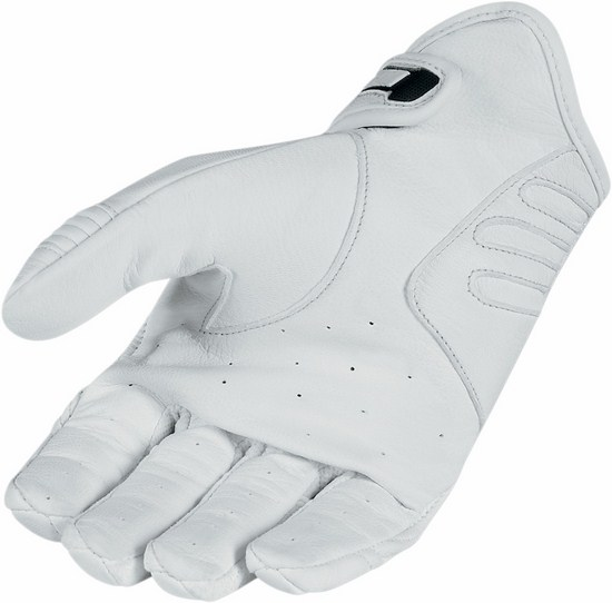 Summer Motorcycle Gloves Icon Hooligan White Blue