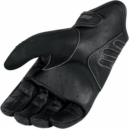 Summer Motorcycle Gloves Icon Hooligan Black