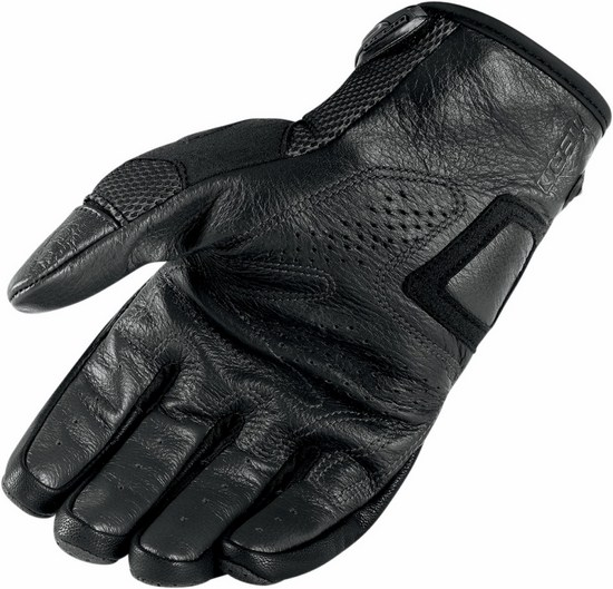 Summer Motorcycle Gloves Icon Overlord Black Resistance
