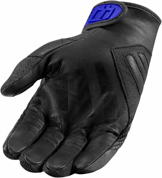 Summer Motorcycle Gloves Icon Blue Sanctuary
