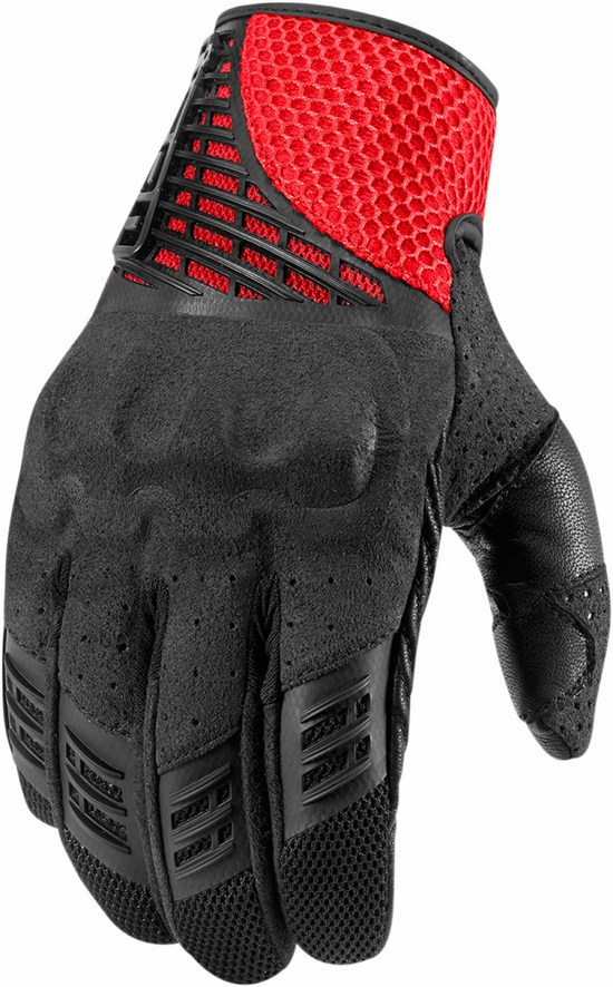 Summer Motorcycle Gloves Red Icon Sanctuary
