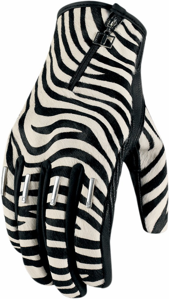 Gloves Icon Women Leather Short Zebra Catwalk 1000