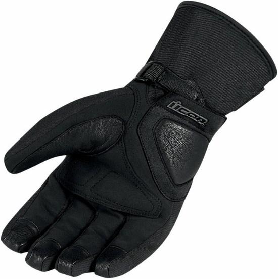 Women Waterproof Motorcycle Gloves Icon Black Citadel
