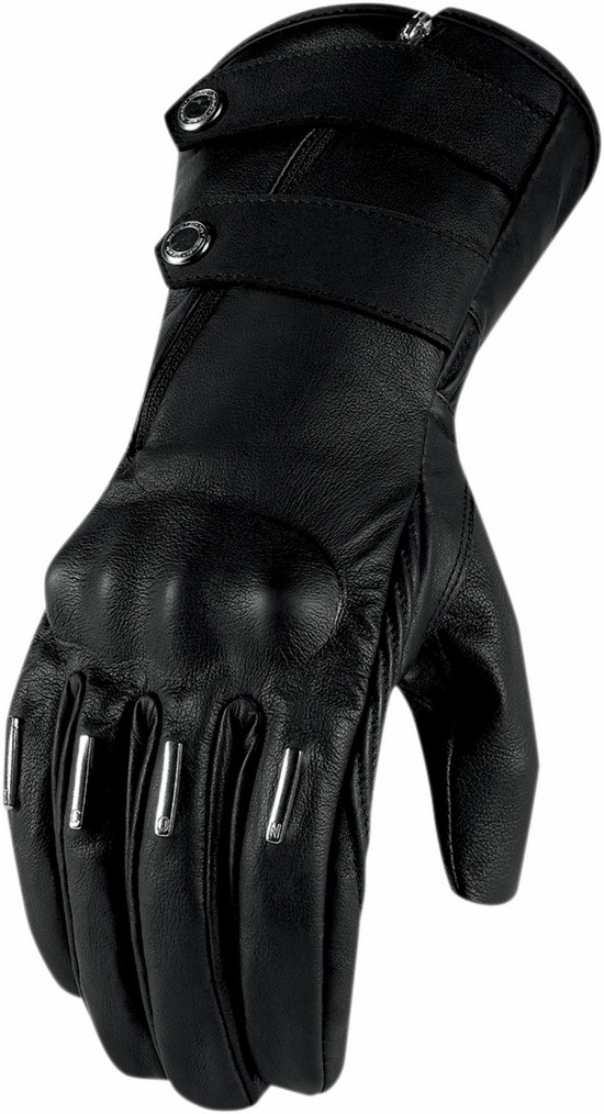 Women leather motorcycle gloves Icon Hella 1000 Kangaroo L
