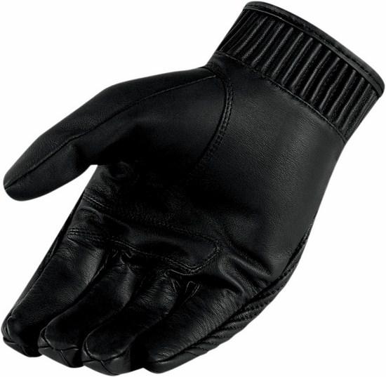 Women leather motorcycle gloves Icon Hella 1000 Black Kang