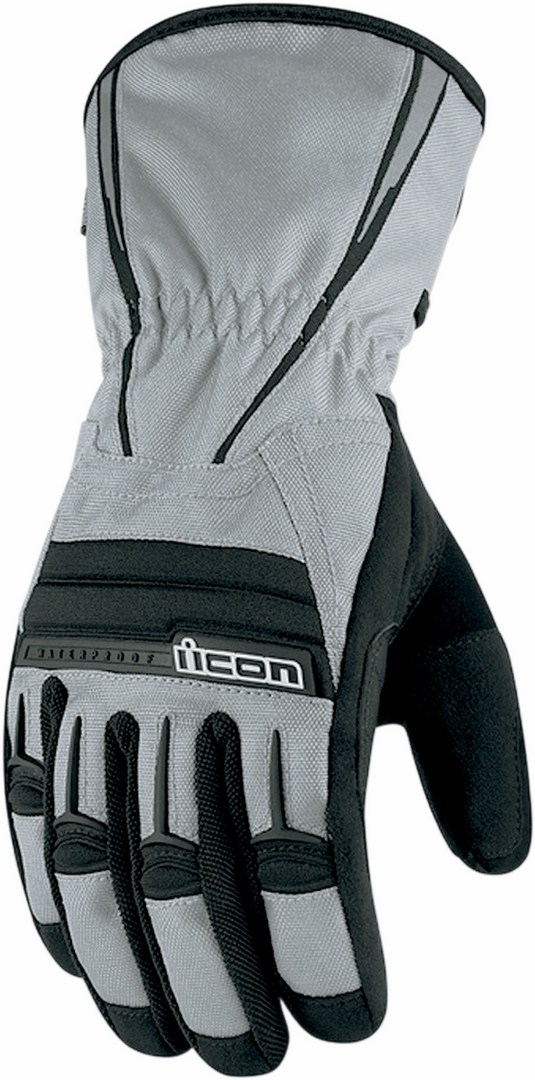 Icon PDX Waterproof Motorcycle Gloves Grey