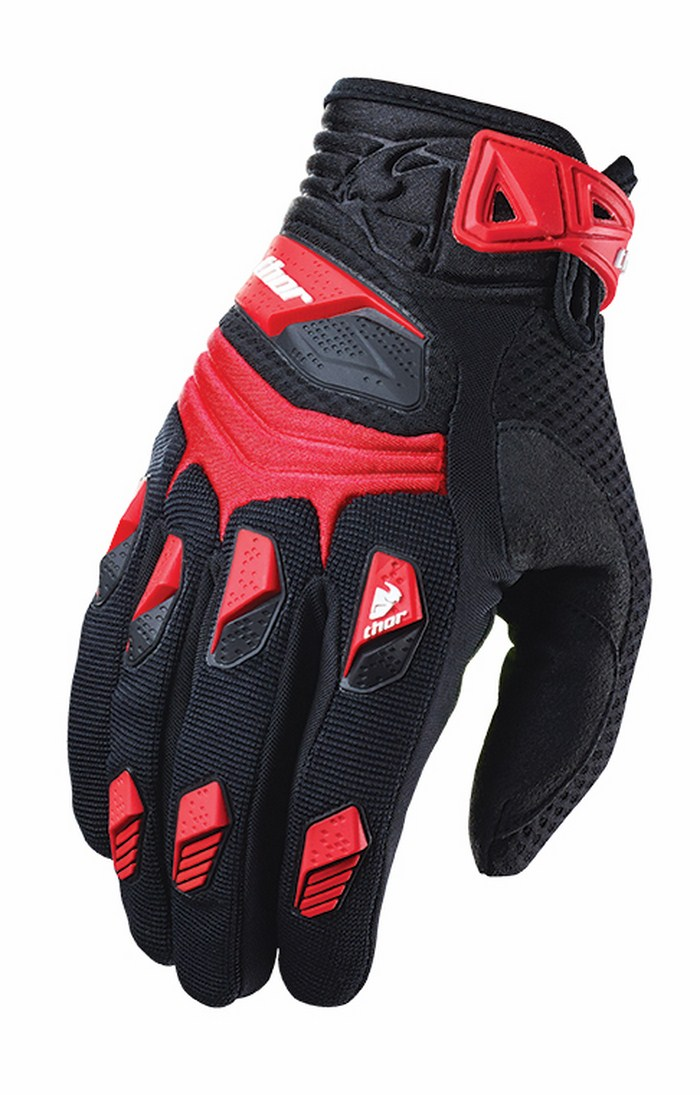 Thor Deflector Gloves cross red