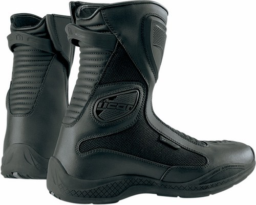 Icon Reign Waterproof Motorcycle Boots Black