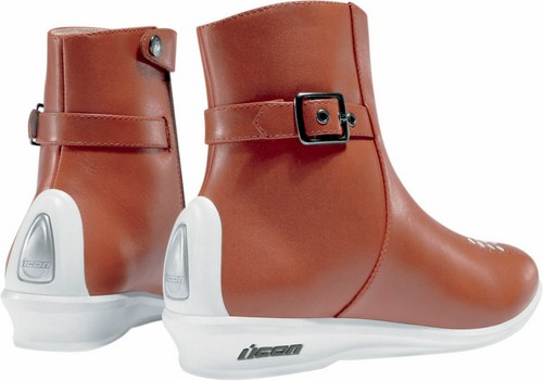 Ankle boots woman leather motorcycle Sacred Icon Brown