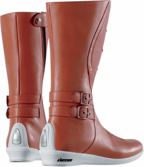 Women leather motorcycle boots Sacred Icon Brown