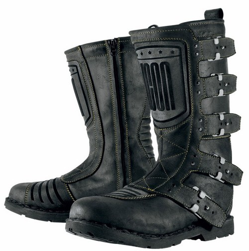 Motorcycle boots leather Icon 1000 Elsinore Black