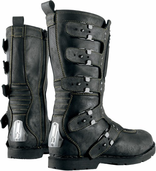 Women leather motorcycle boots Icon 1000 Elsinore Black