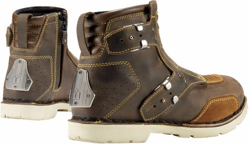 Shoes woman leather motorcycle Icon 1000 El Bajo Brown