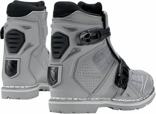 Motorcycle Boots Icon Field Armor 2 Grey