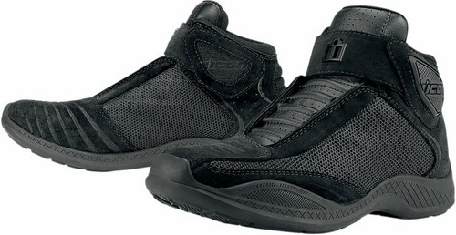 Icon Tarmac Motorcycle Leather Shoes Black 2