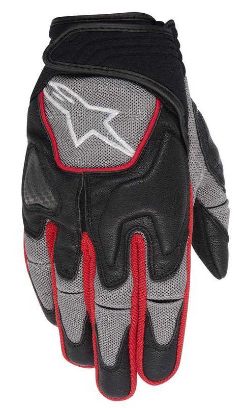 Alpinestars Scheme Kevlar Gloves Black Grey Red