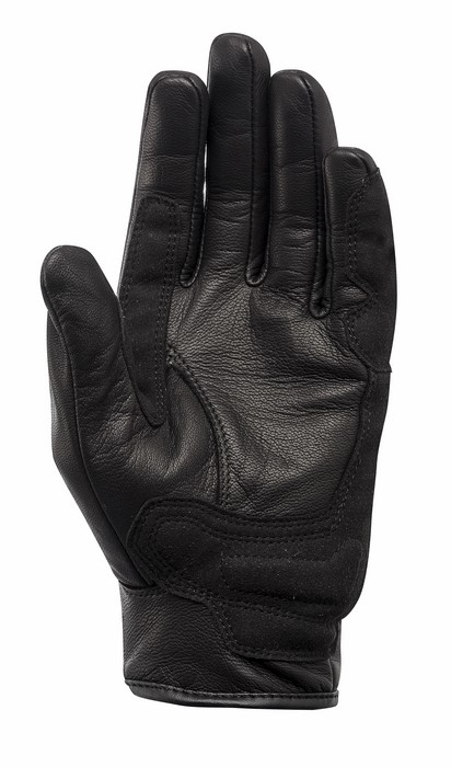 Black leather motorcycle gloves Alpinestars Hoxton