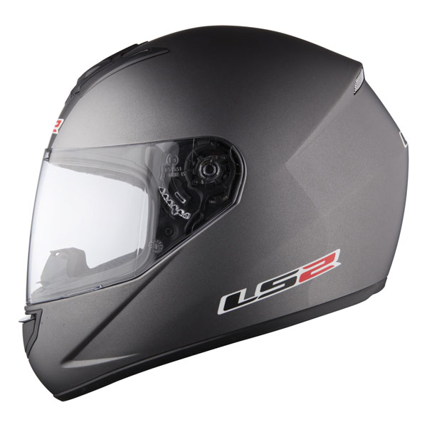 Casco integrale LS2 FF351 Single Mono Titanium opaco