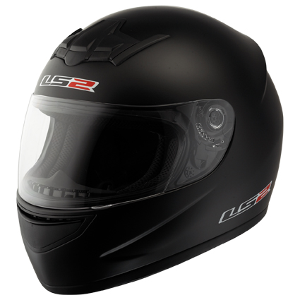 Casco moto integrale LS2 FF351 Single Mono Nero Opaco