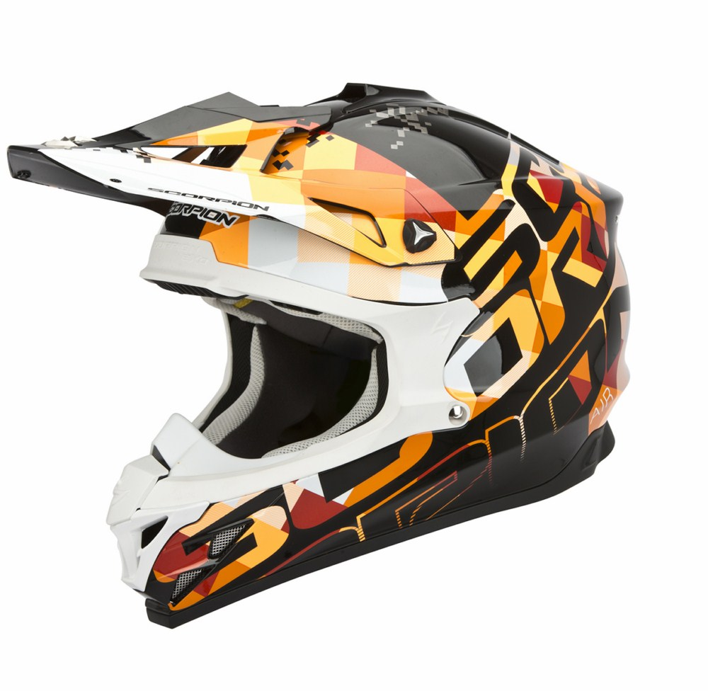 Scorpion VX 15 Evo Air Grid cross helmet black orange