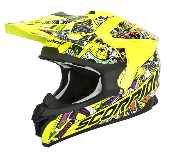 Scorpion VX 15 Evo Air Vector cross helmet Yellow Multicolor