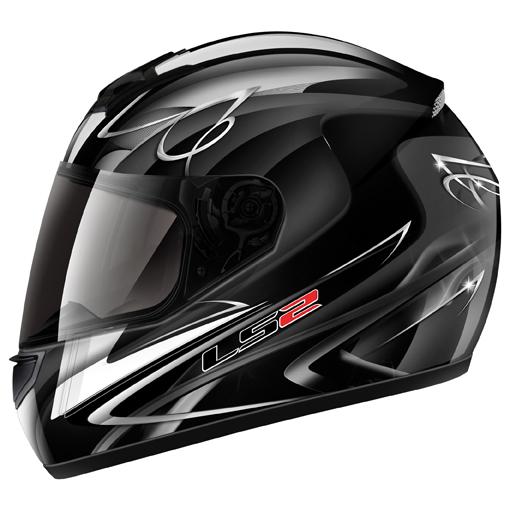 LS2 FF351 Diamond II full face helmet Black-White