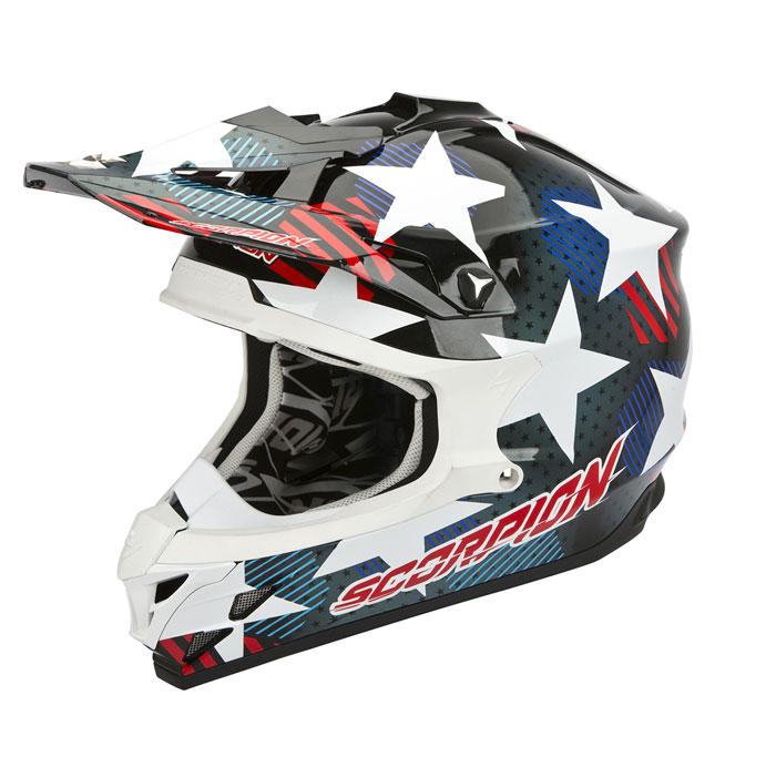 Scorpion VX 15 EVO Air Stadium cross helmet Black Blue