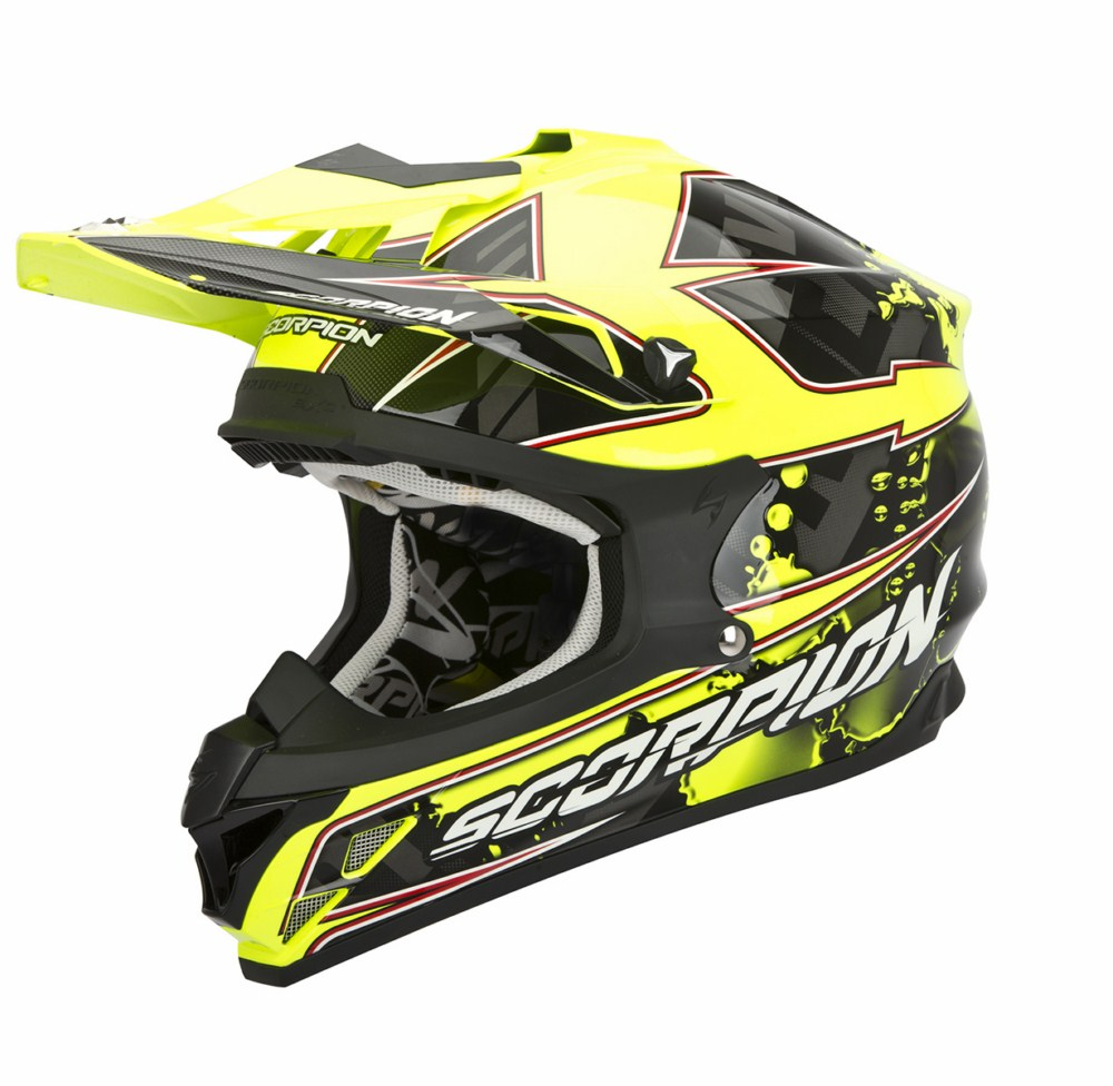 Scorpion VX 15 Evo Air Magma cross helmet black yellow