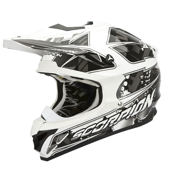 Scorpion VX 15 EVO Air Magma cross helmet Black White