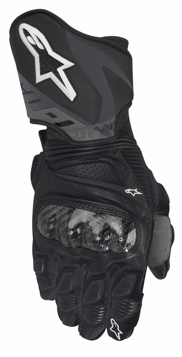 Women leather motorcycle gloves Alpinestars Stella SP-1 Bl