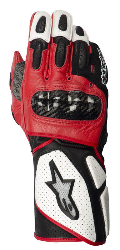 Guanti moto donna Alpinestars Stella SP-2pelle bianco-nero-rosso