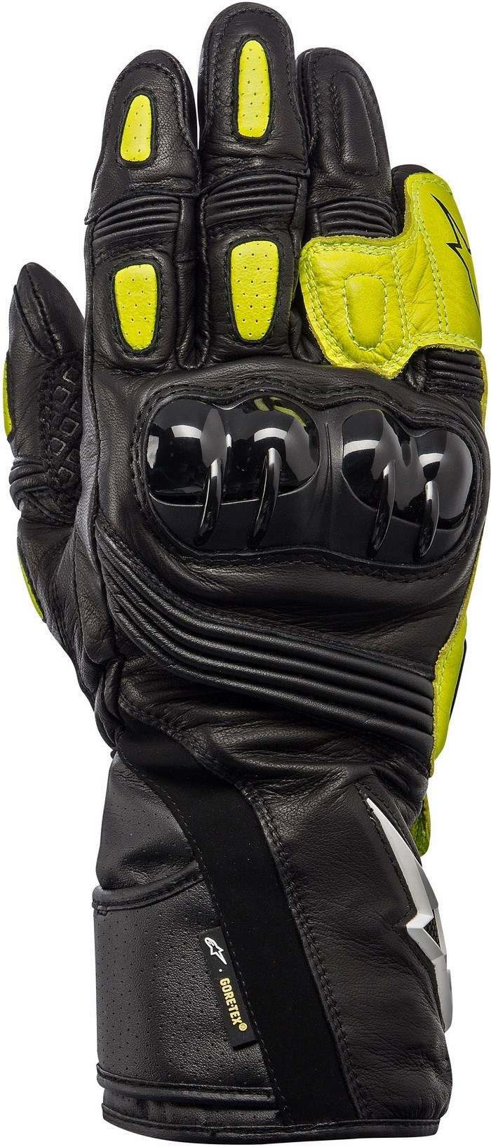 Guanti moto Alpinestars Archer X-Trafit nero-giallo fluo