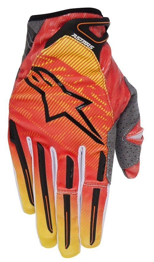 Gloves Alpinestars Charger cross Orange Yellow