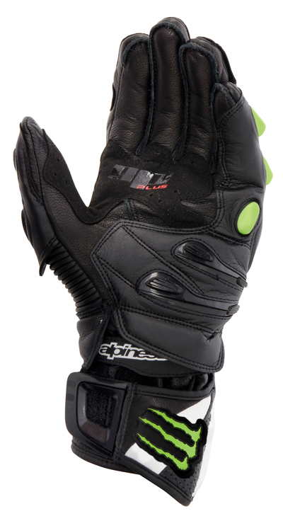 Alpinestars GP-M Monster leather gloves black-green